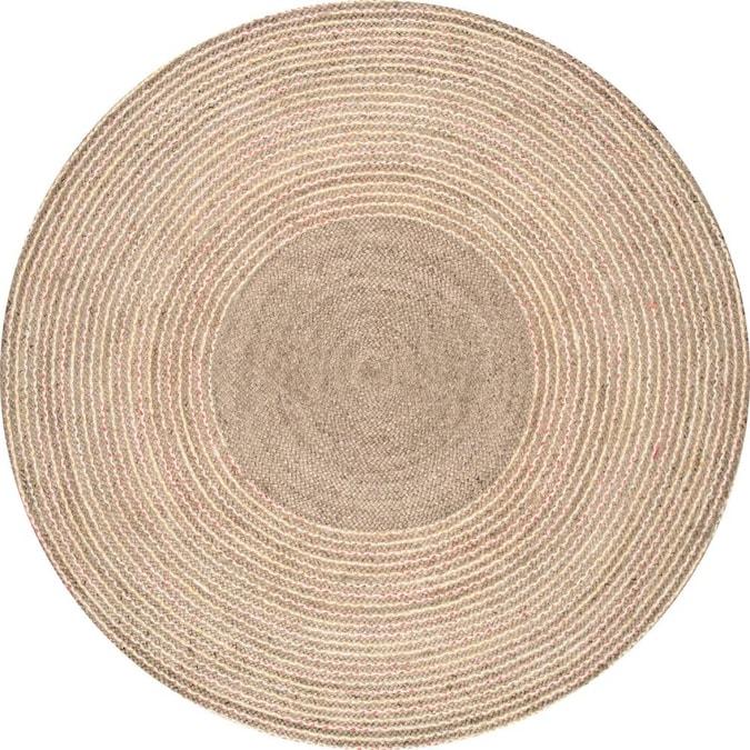 Natural Round Indoor Area Rug, 8 Round Rugs