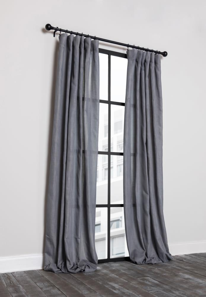 Single Curtain Panel In The Curtains, Double Rod Pocket Sheer Curtains