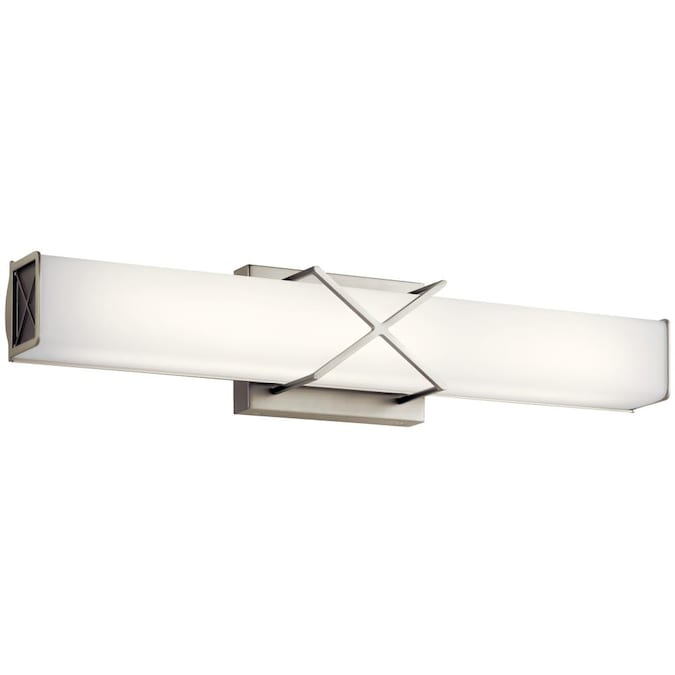 Kichler Trinsic 1 Light Nickel Modern, Modern Bathroom Light Bar
