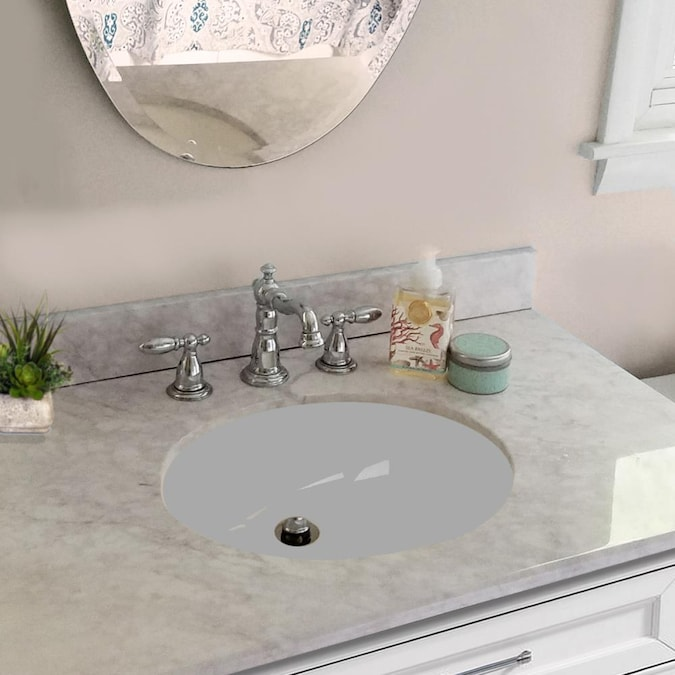 Nantucket Great Point White Undermount Oval Bathroom Sink With Overflow Drain 17 25 In X 14 75 In In The Bathroom Sinks Department At Lowes Com
