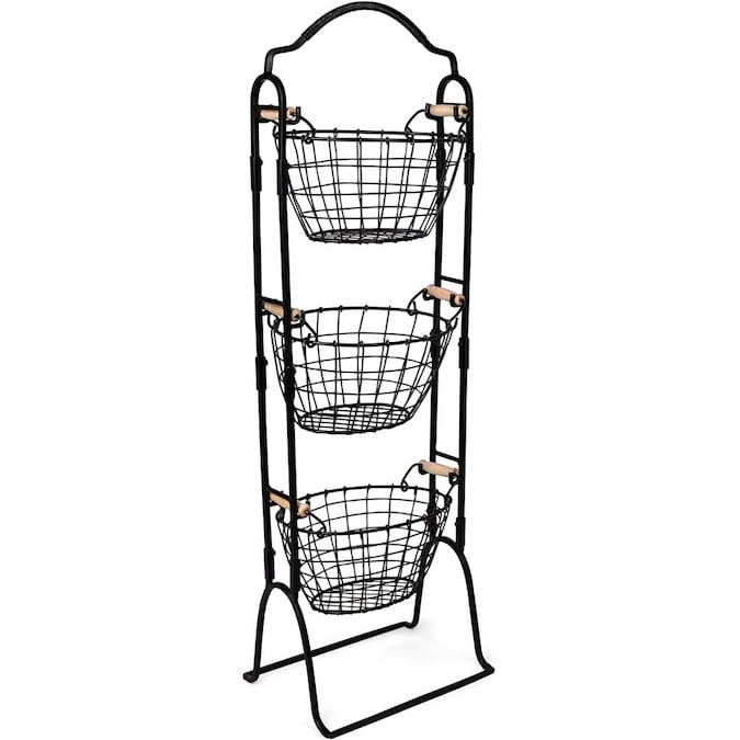 Birdrock Home Birdrock Home 3 Tier Wire Basket Stand With Removable Baskets Kitchen Organizer Fruit Vegetable Produce Metal Hanging Storage Bin For Pantry Bathroom Kitchen Free Standing Display Organizer In The