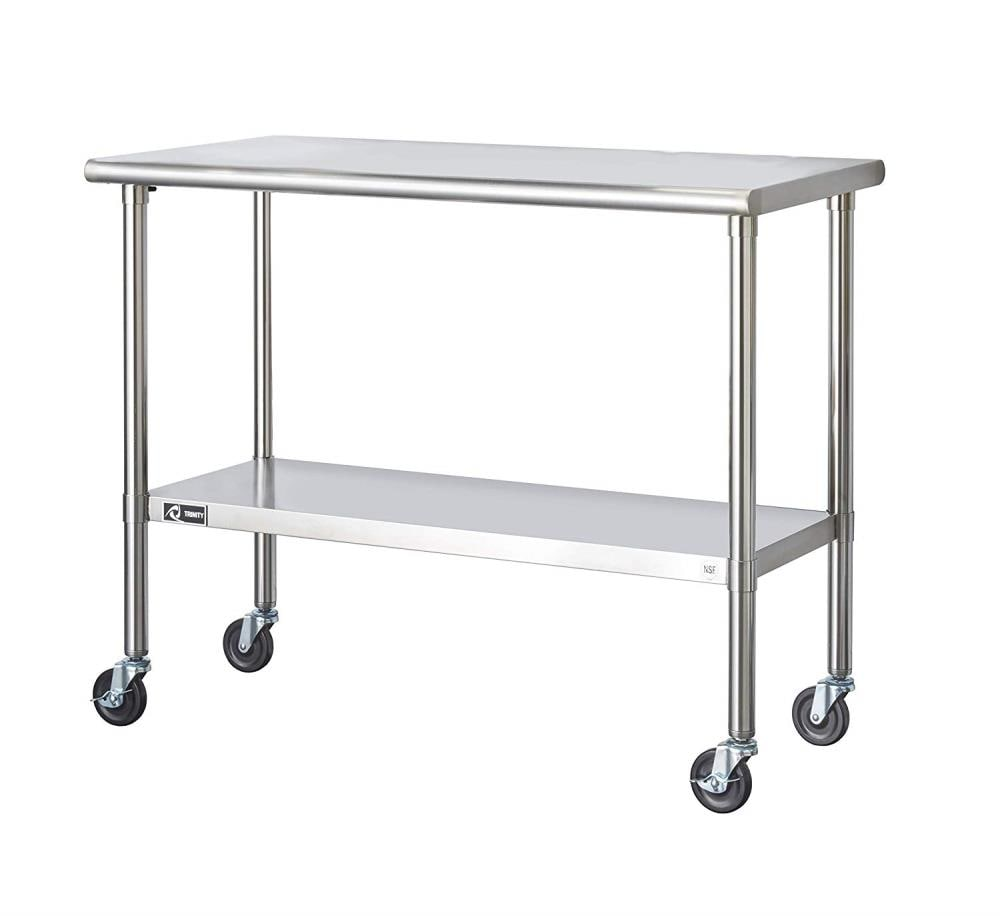 Prep Tables Stainless Steel Kitchen Islands Carts At Lowes Com