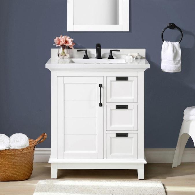 Allen Roth Clarita 30 In White, 30 Wide Bathroom Vanity