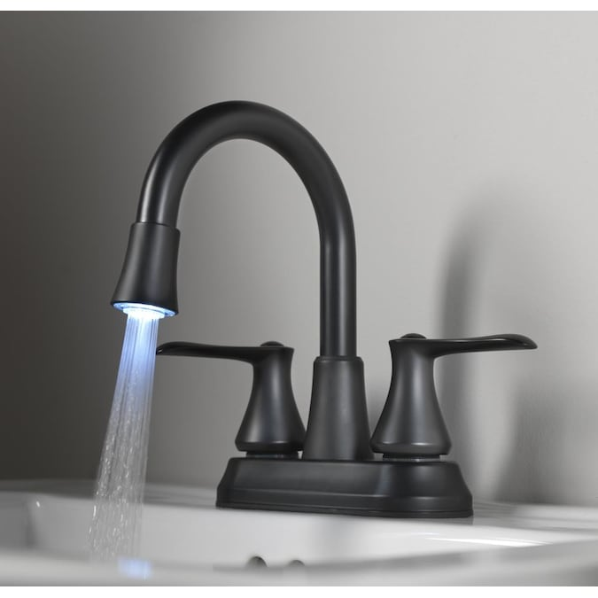 Homewerks Worldwide Led Aerator Matte, Black Bathroom Faucets