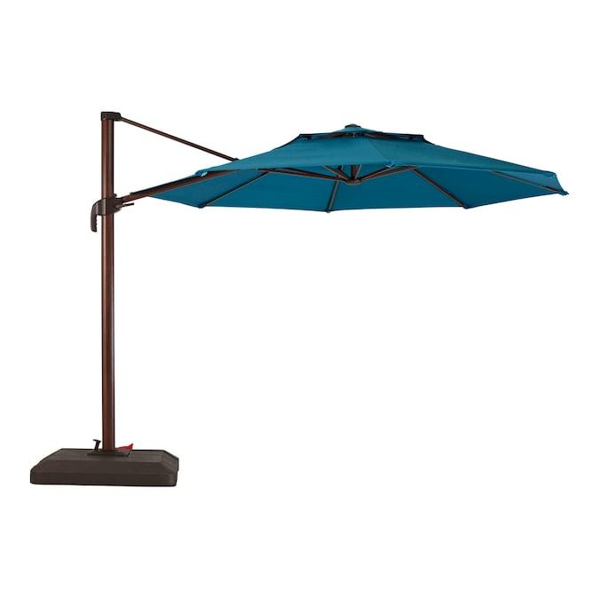 Roth 11 Ft Blue Crank Cantilever Patio, Articulating Patio Umbrella