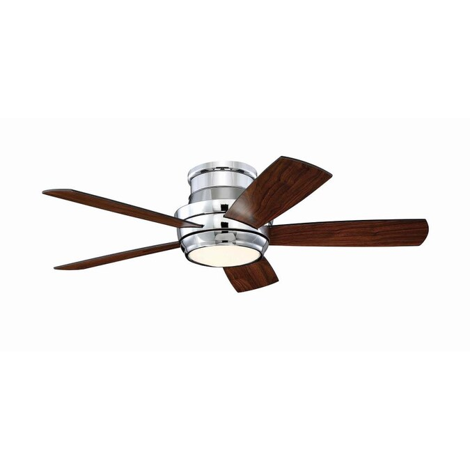 Craftmade Tempo Hugger 44 In Chrome Led Indoor Flush Mount Ceiling Fan With Remote 5 Blade In The Ceiling Fans Department At Lowes Com
