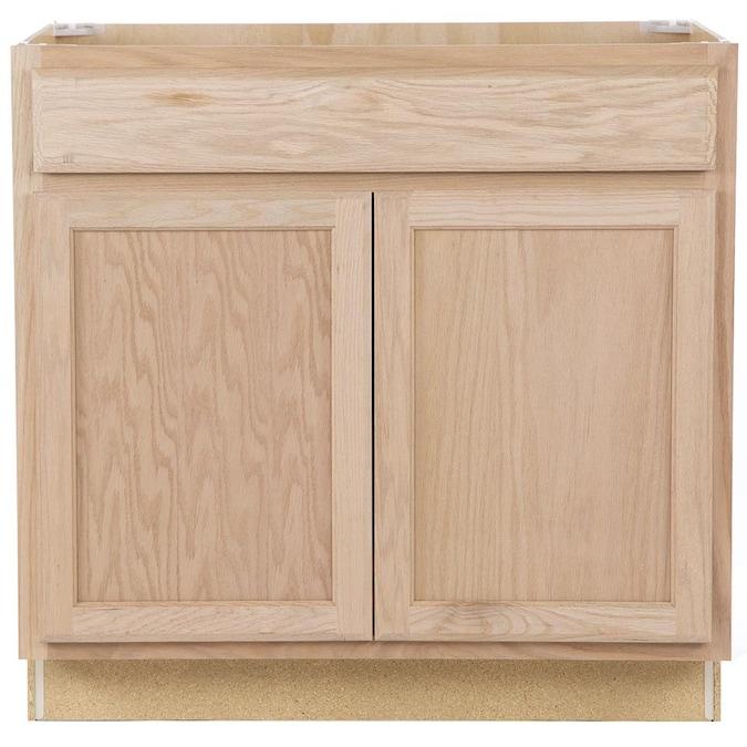 Oak Bathroom Vanity Cabinet, 36 Inch Cabinet