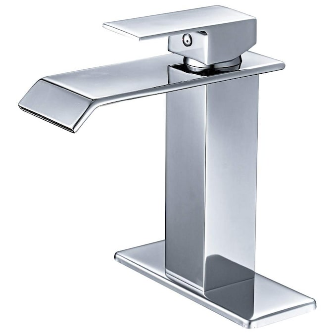 Kinwell Chrome 1 Handle 4 In Centerset Bathroom Sink Faucet With Deck Plate In The Bathroom Sink Faucets Department At Lowes Com
