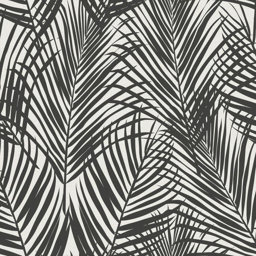 Esta Home Fifi Black Palm Frond Wallpaper In The Wallpaper Department At Lowes Com
