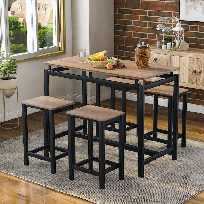 Casainc 5 Piece Kitchen Counter Height, Dining Room Sets For 4