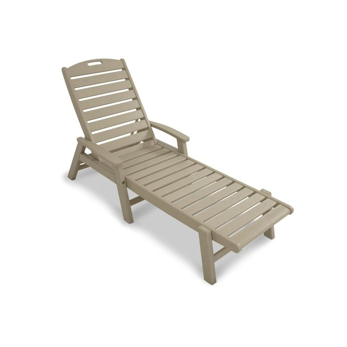 Trex Outdoor Furniture Yacht Club Tan, Chaise Lounge Chairs Outdoor Plastic