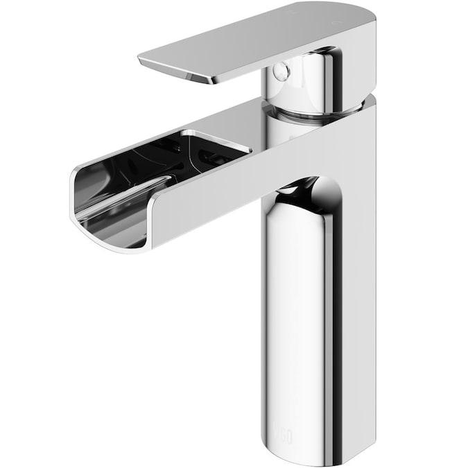 Vigo Ileana Chrome 1 Handle Single Hole Watersense Bathroom Sink Faucet In The Bathroom Sink Faucets Department At Lowes Com