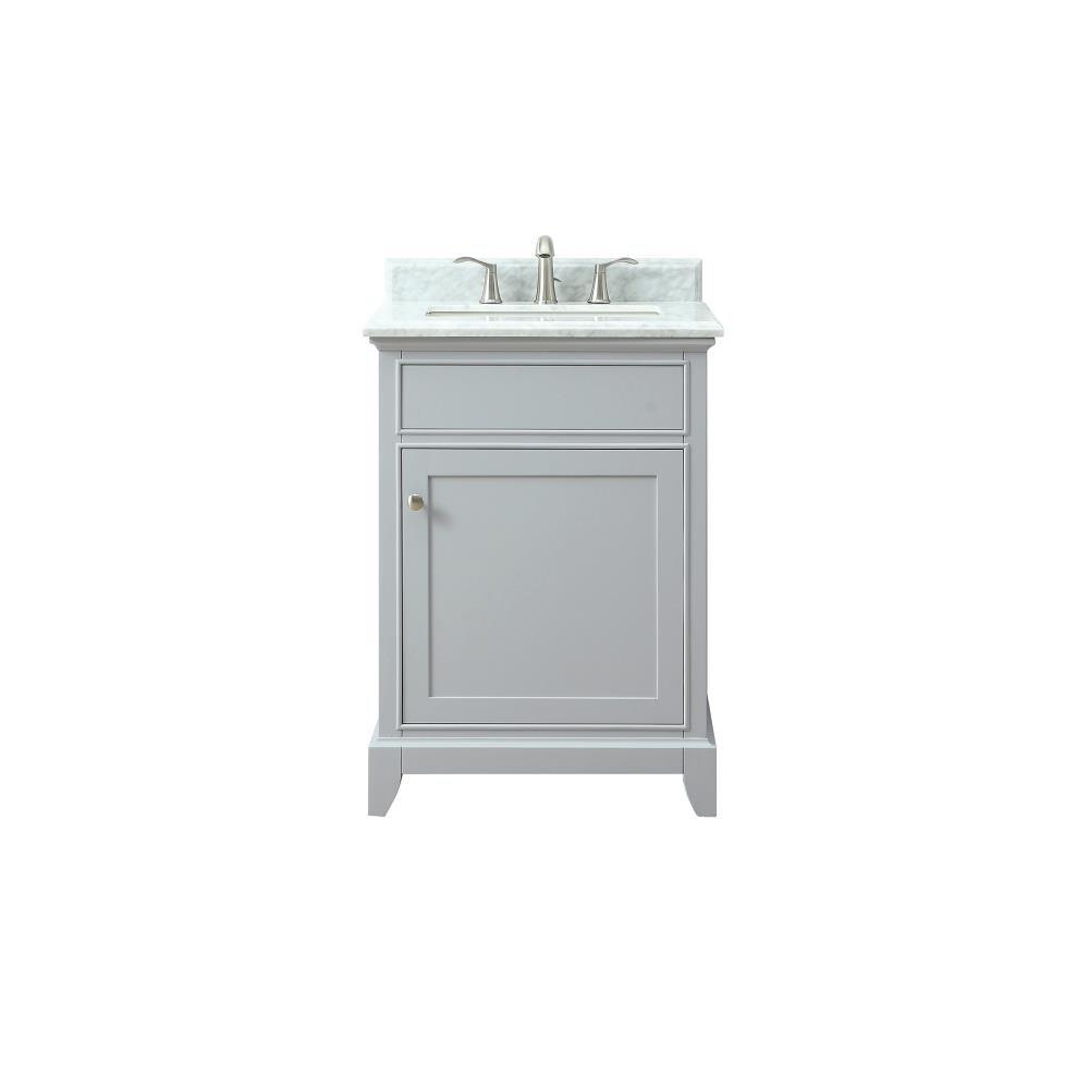 Azzuri Aurora 25 In Vanity Combo In The Bathroom Vanities With Tops Department At Lowes Com