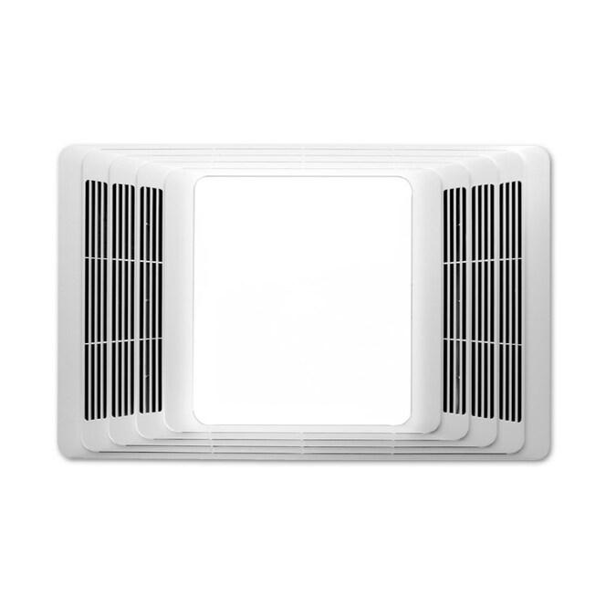 Broan 2 5 Sone 50 Cfm White Lighted, Bathroom Light Fan Heater