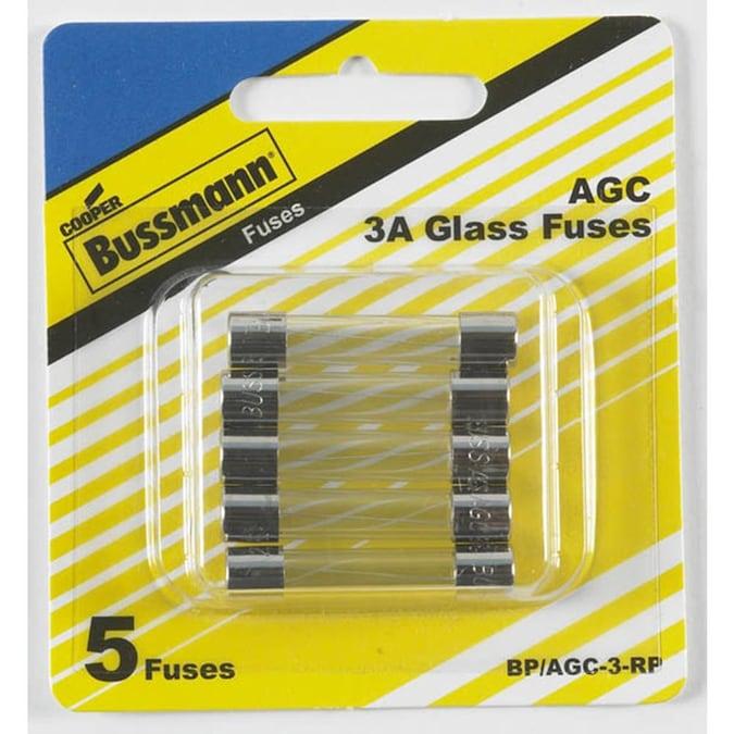 Set of 5 Each Agc-3 BUSS Bussmann Fuses Agc3 250v for sale online