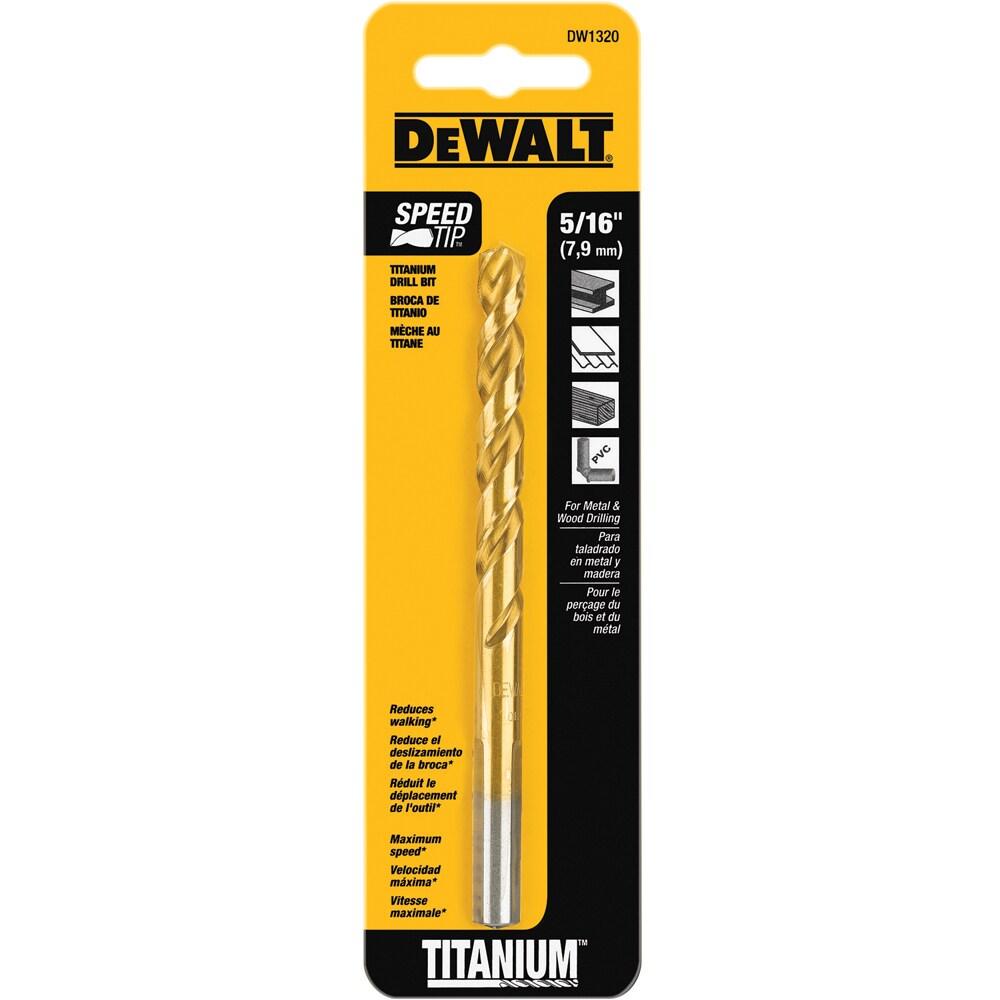 DEWALT 5/16-in Standard Titanium Twist Drill Bit | DW1320 G