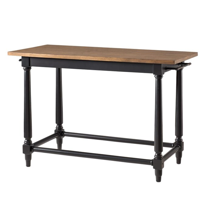 Boston Loft Furnishings Brown Wood Base With Wood Top Kitchen Island 26 In X 52 In X 35 In In The Kitchen Islands Carts Department At Lowes Com