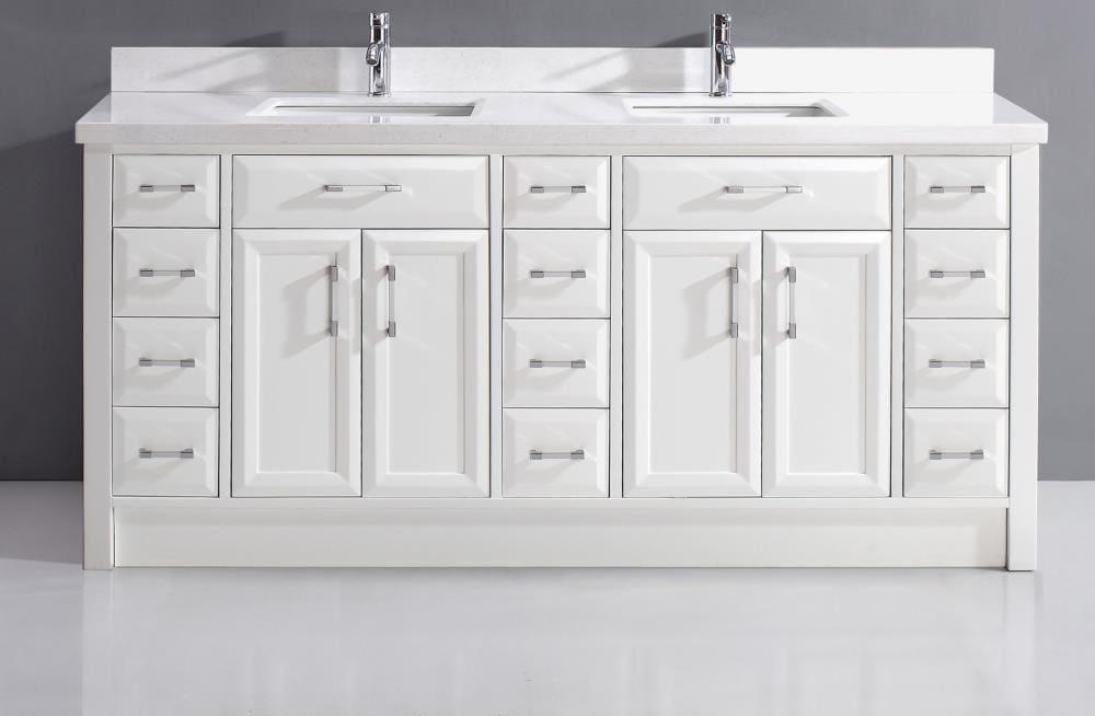 Double Sink Bathroom Vanity, 65 White Bathroom Vanity