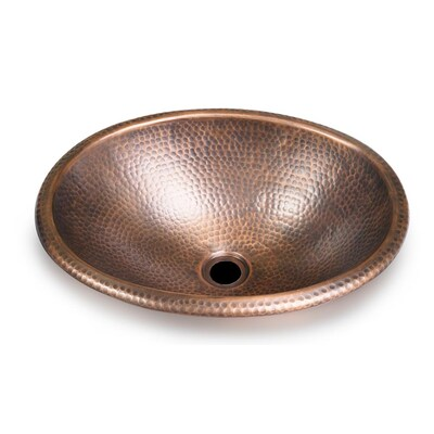 Monarch Abode Hand Hammered Copper, Oval Copper Bathroom Sink