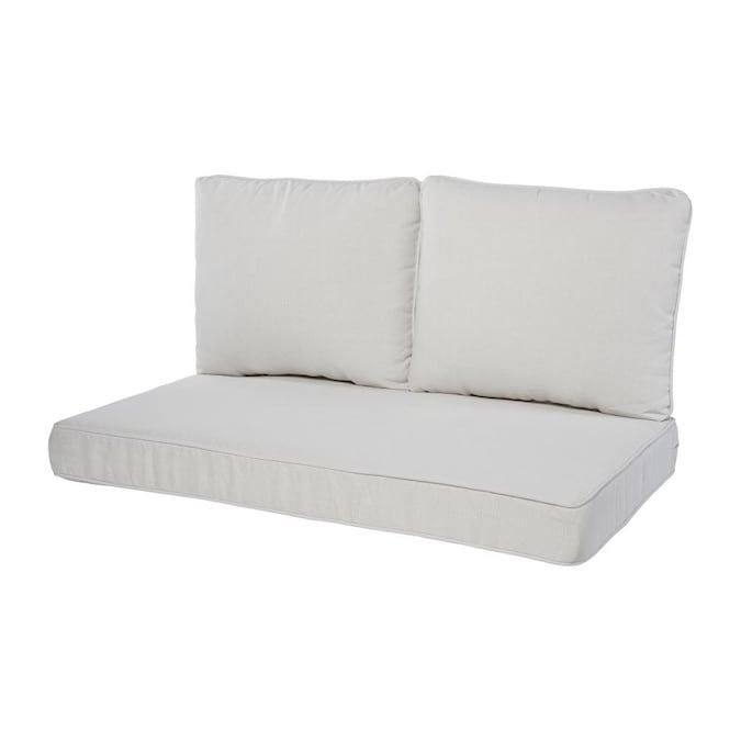 3 Piece Linen Patio Loveseat Cushion, Loveseat Cushion Outdoor