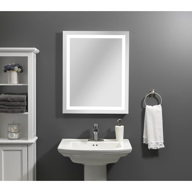 Style Selections 24 In Lighted Led Fog, Vanity Mirror With Lights Frameless