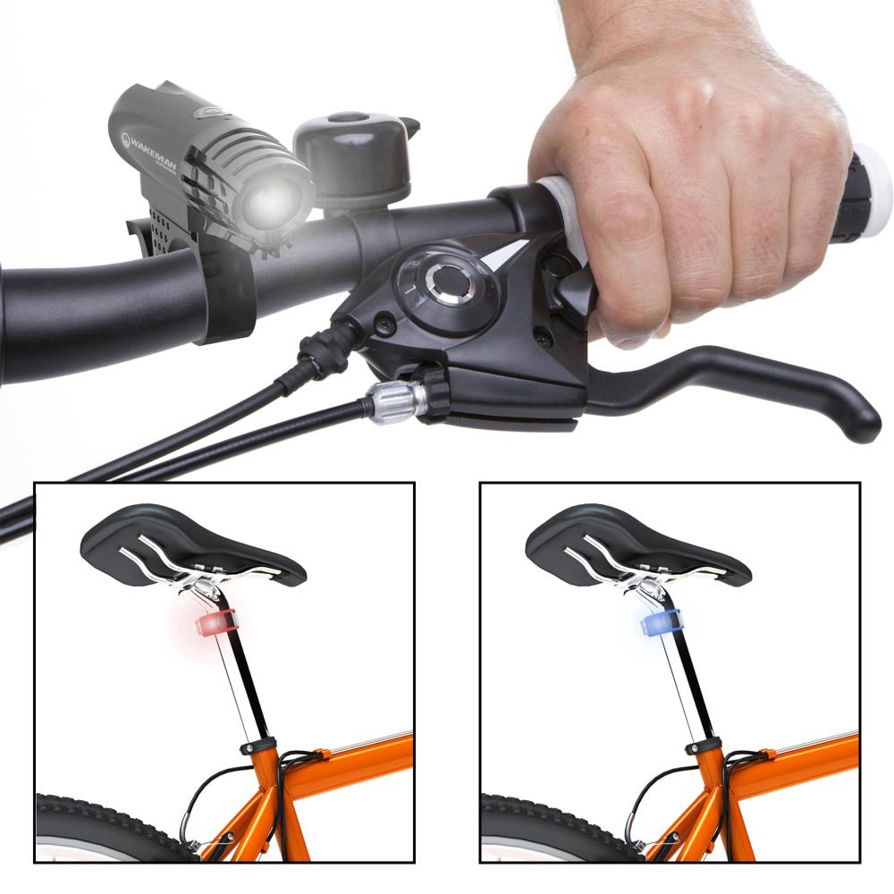 USB Rechargeable Bicycle Bike Headlight LED Front Night Lamp Rear Taillight Set