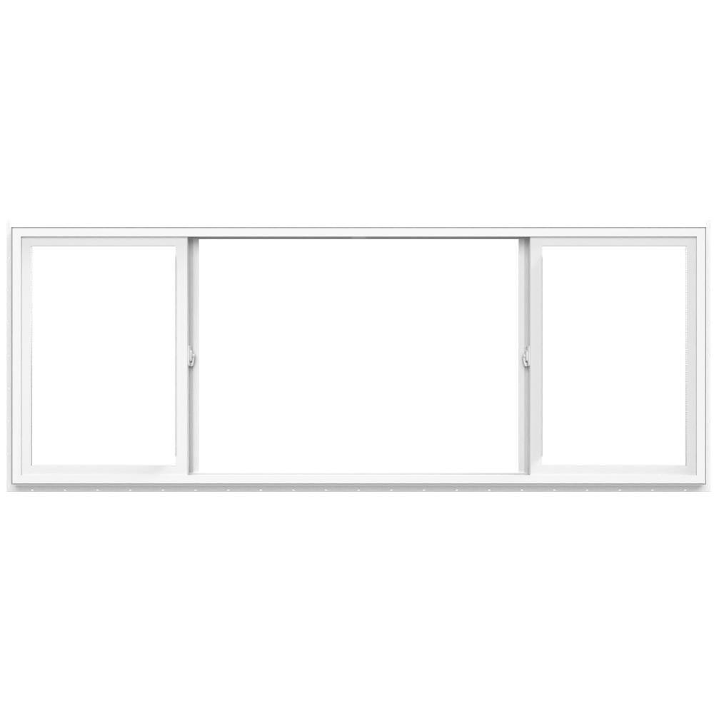 95.5-in x 47.5-in x 1.31-in Jamb Left-operable Vinyl New Construction Egress White Sliding Window   - Pella 1000010138